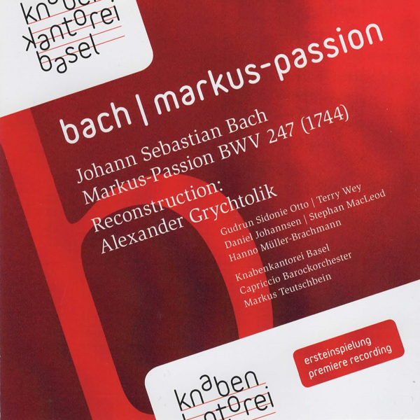 CD Cover - Markus-Passion