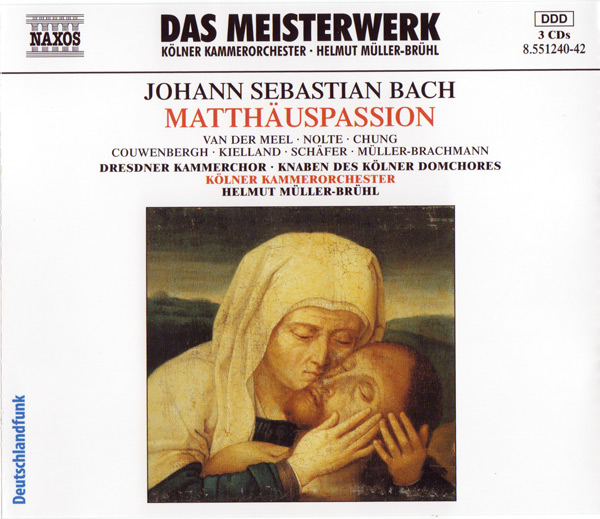 CD Cover - Matthäuspassion